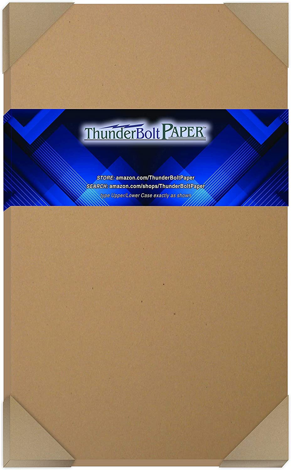 "150 Brown Kraft Fiber 80# Cover Paper Sheets - 8.5"" X 14"" (8.5X14 Inches) Legal