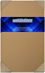 50 Brown Kraft Fiber 28/70# Text (NOT card/cover) Paper Sheets - 8.5