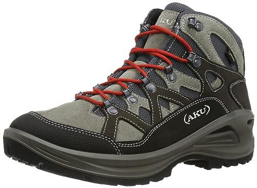 AKU Erera GTX 352 - Zapatillas de montaña de cuero para hombre, color gris, talla 45: Amazon.es: Zapatos y complementos