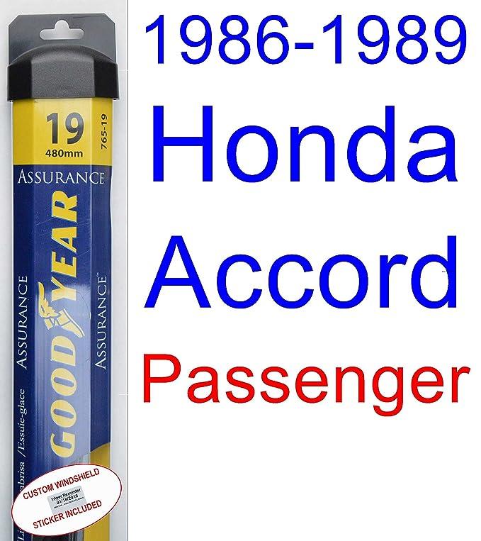 1986 - 1989 Honda Accord hoja de limpiaparabrisas de repuesto Set/Kit (Goodyear limpiaparabrisas blades-assurance) (1987,1988): Amazon.es: Coche y moto