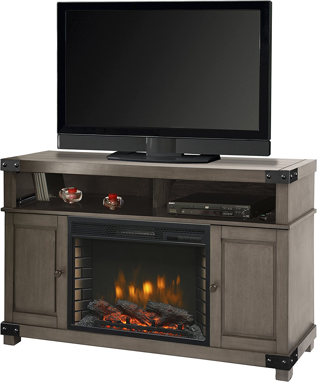 Muskoka Hudson 53 Media Fireplace-Dark Weathered Grey