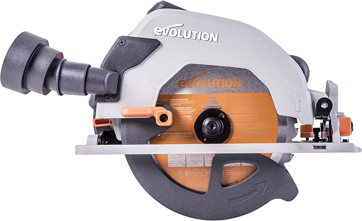 Evolution Power Tools R185CCS 7-1 4 TCT Multi-Material Cutting Circular Saw, 7-1 4 , Orange
