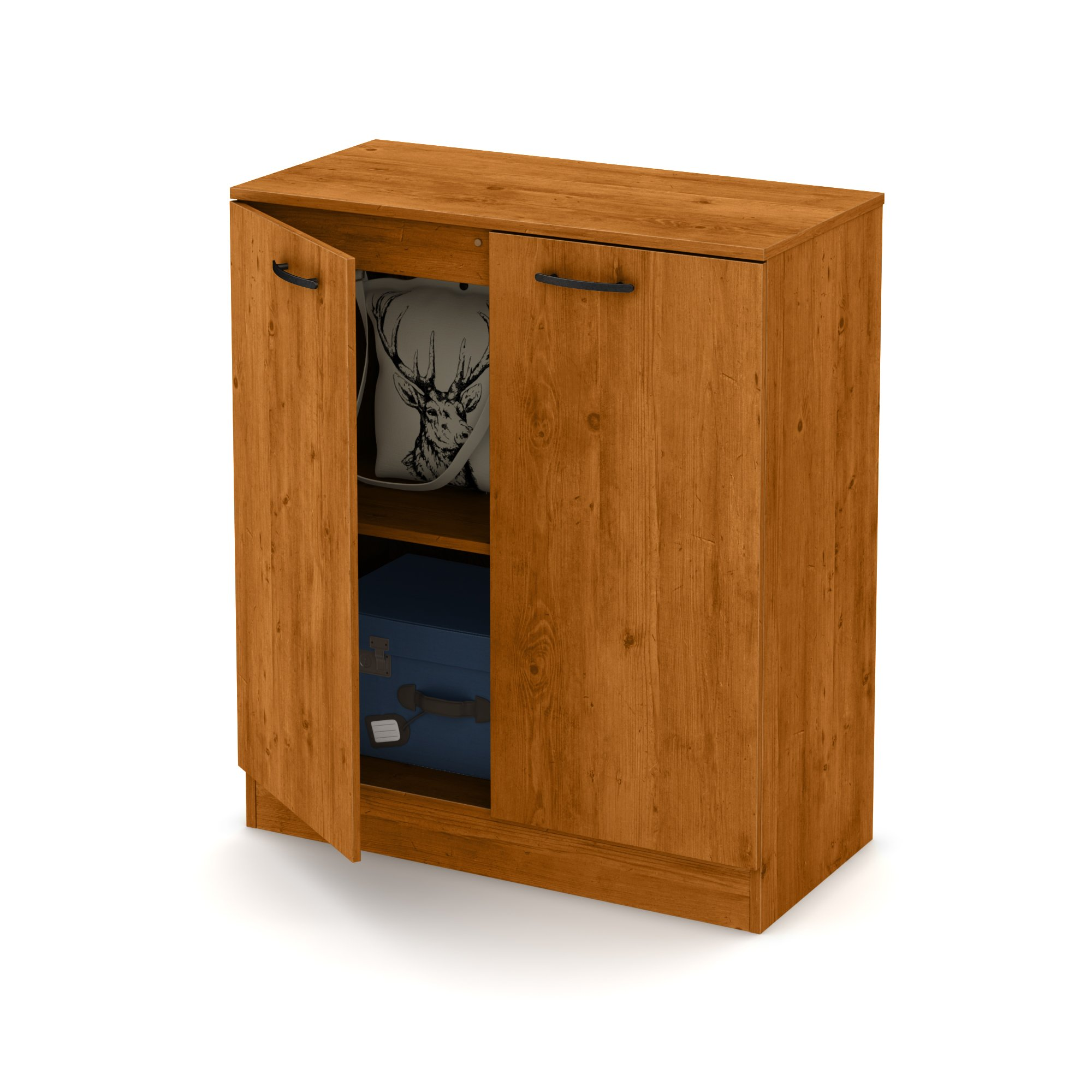 South Shore Axess 2-Door Storage Cabinet, Country Pine