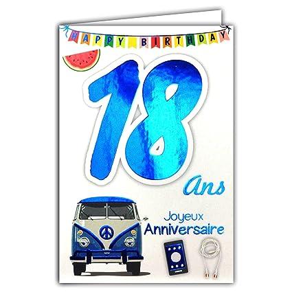 69-2018 - Tarjeta feliz cumpleaños de 18 años para niño ...