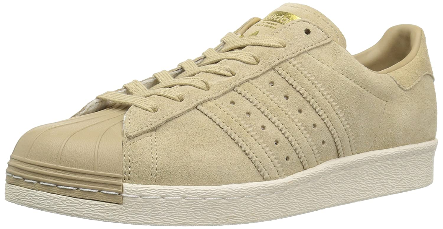 classic fit a2a3c ed8c4 adidas Superstar 80s Women Shoes BB2227 Khaki/Gold Sneakers ...