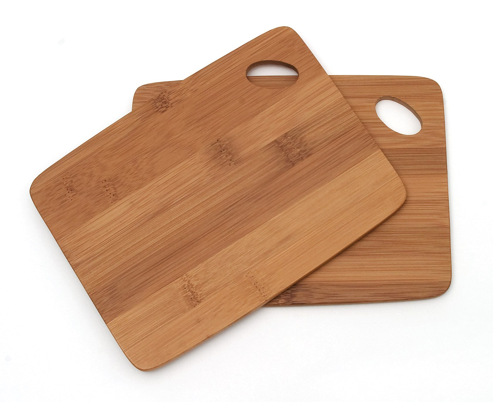 Bamboo Wood Thin Kitchen Cutting Boards With Oval Hole In