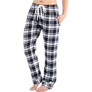 Frankie /& Johnny Womens 100/% Cotton Flannel Pyjama Trouser PJ Pants