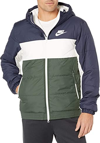 sí mismo Tío o señor espectro  Amazon.com: Nike mens Men's Nike Sportswear Synthetic Fill Jacket Hooded  Full Zip: Clothing