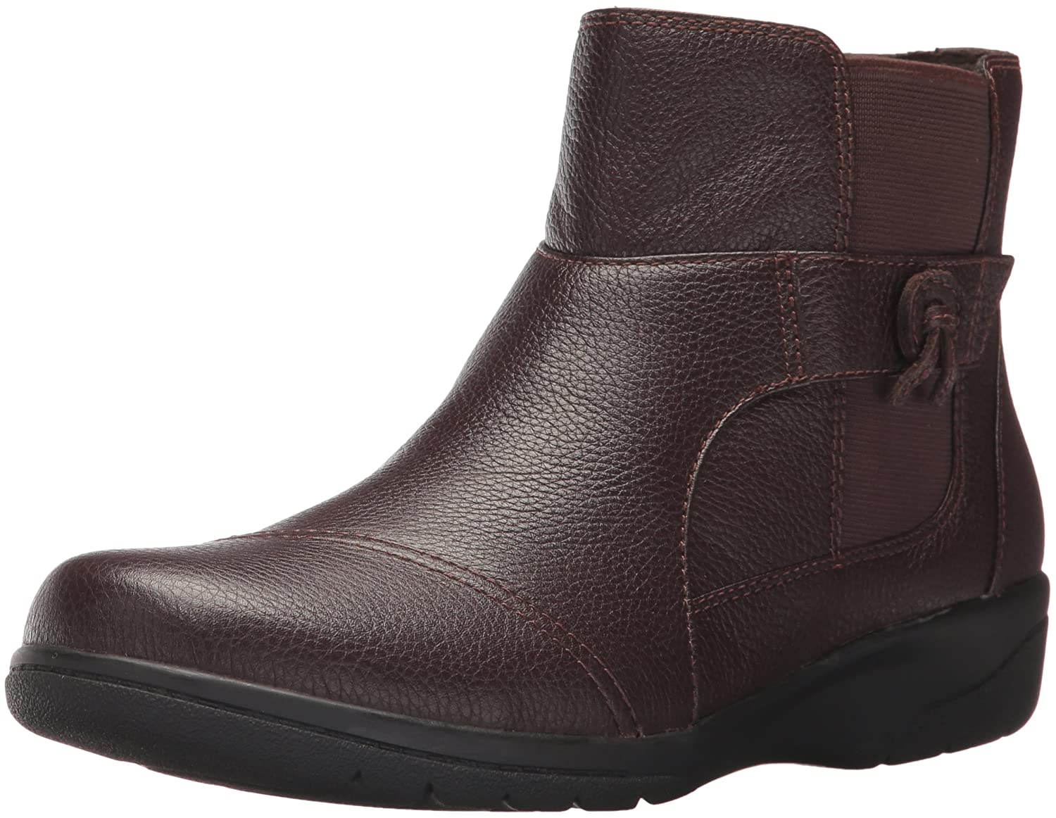 CLARKS Women's Cheyn Work Ankle Bootie B01MTZ1HXH 9.5 B(M) US|Dark Brown Leather