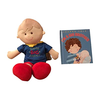 MartLoop I Am a Big Brother Doll and Book Bundle - Super Big Brother Doll with Cape: Toys & Games