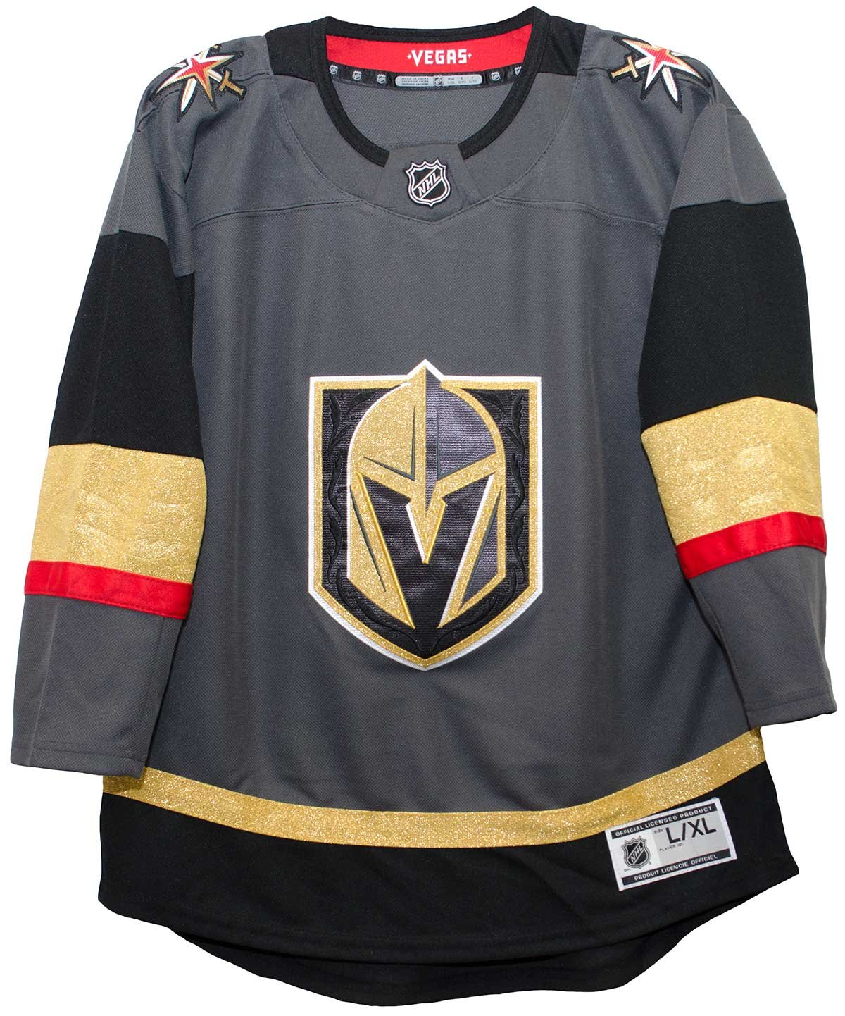 low priced 47691 e60b5 Outerstuff Vegas Golden Knights Youth Premier Home Jersey (Youth Size)