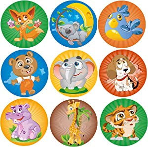 Sweepstakes: Animal Stickers Roll For Kids | 9 Designs | 200 pcs. in...