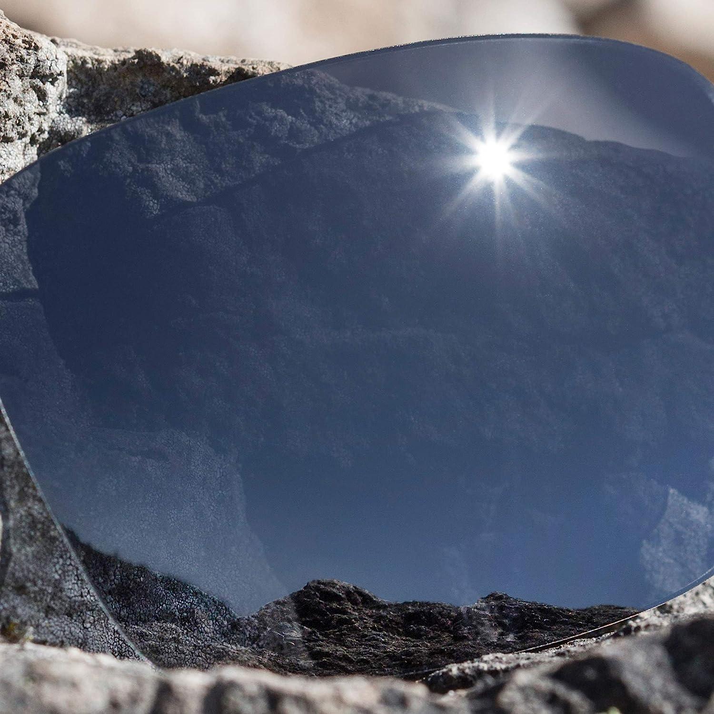Revant Verres de Rechange pour Oakley Vacancy - Compatibles avec les Lunettes de Soleil Oakley Vacancy Chromé Noir Mirrorshield - Polarisés