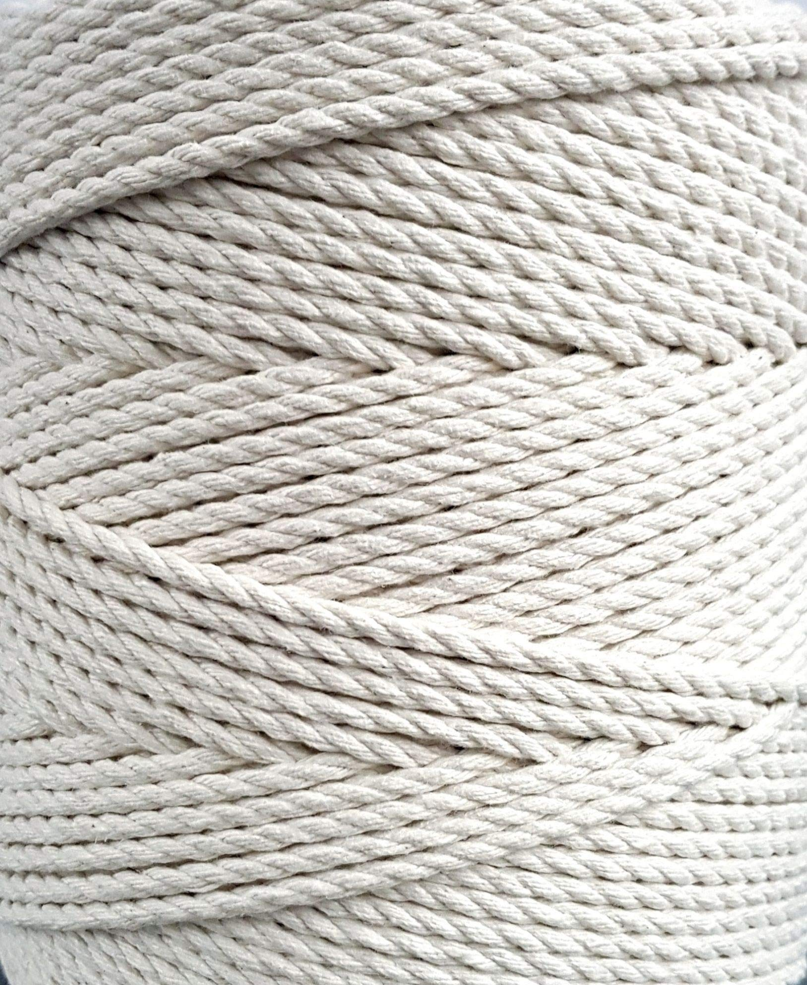 Macrame cord 4mm natural cotton cord 853 feet macrame rope 284 yd. cotton rope (4mm x 260m (about 284 yd.)) by MB Cordas (Image #4)
