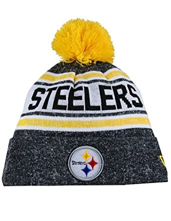 f22c59c8f98 Image Unavailable. Image not available for. Color  PIT STEELERS Adult  Winter Knit Beanie Hat With Removable Pom Pom One Size Fits Most Multicolor