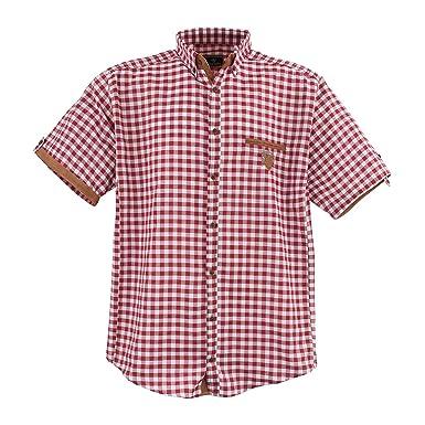 1129 Blue-White-Brown Herrenhemd kurz Arm Übergröße Lavecchia Gr. 3 ... c2b8260dfc
