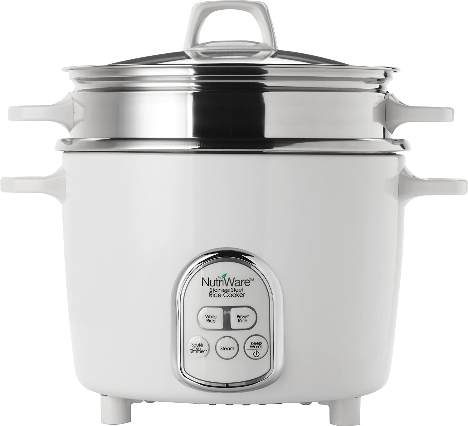 Amazon.com: Aroma Housewares NutriWare 14-Cup (Cooked) Digital Rice Cooker  and Food Steamer, White: Stainless Steel Rice Cooker: Kitchen & Dining
