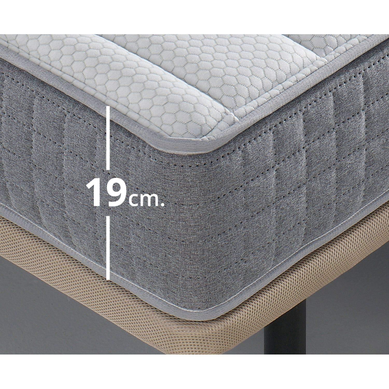 Mueble Canape con Base Tapizada + Colchon Visco 135x190 cms, Subida Domicilio ref-16 Color Gris: Amazon.es: Hogar