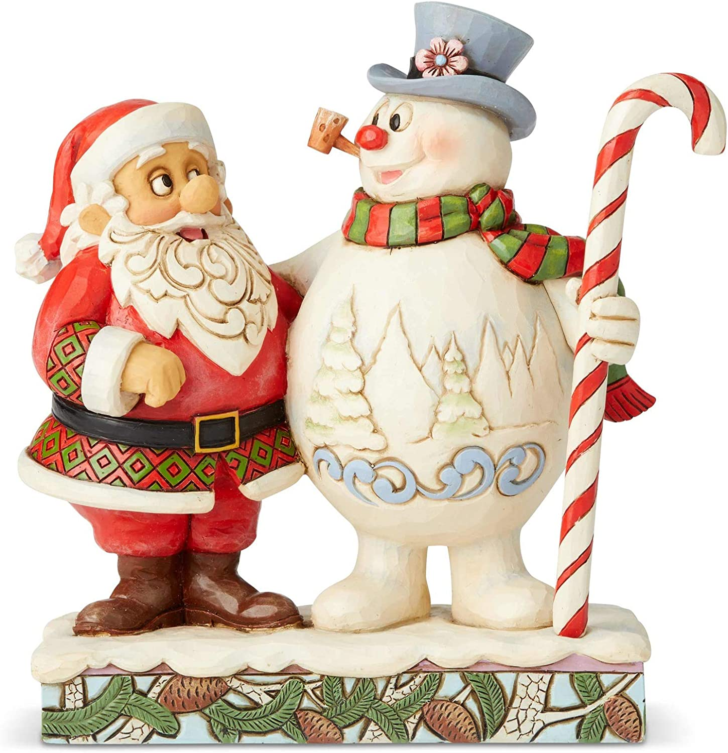 Santa Frosty With Candy Cane Figurine 7 2 In Multicolor Amazon Ca Home Kitchen