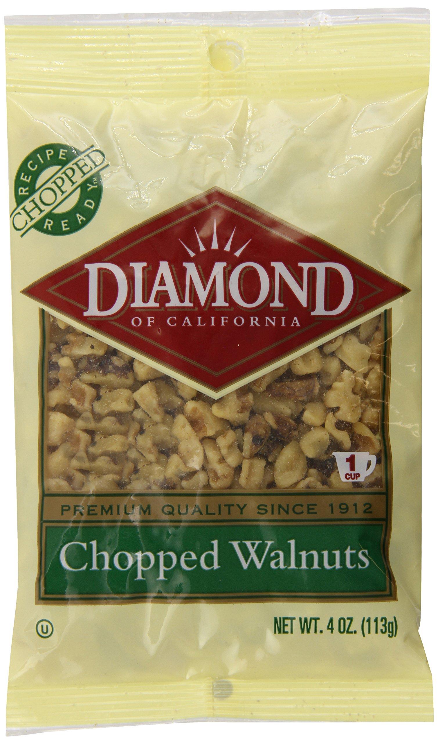 Diamond of California, Chopped Walnuts, 4 Ounce (Pack of 12)