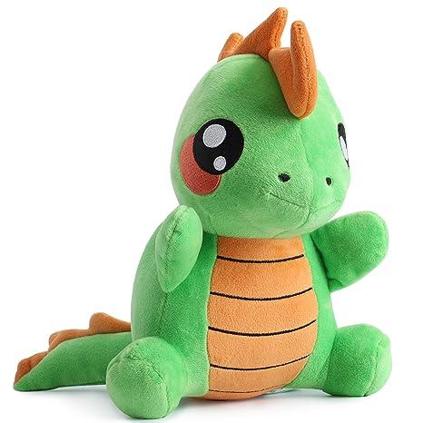 corimori Byte el Dinosaurio Animal de Peluche Juguete para Bebés y Niños, 26cm, Verde