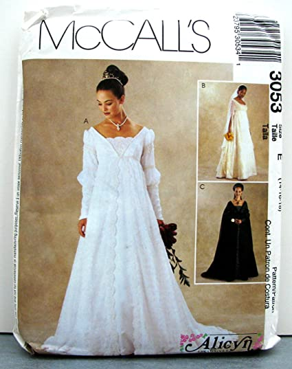 Amazon Mccalls Bridal Gown Wedding Gown Bridesmaid Dress