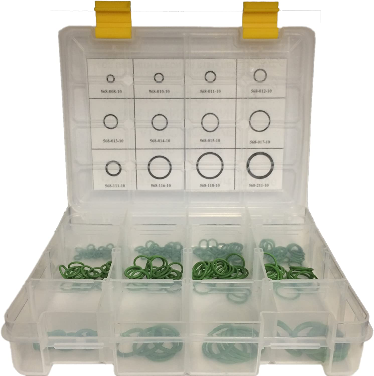 TSI Supercool OR200 Green O-Ring Master Assortment - 200 Piece Kit