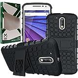 DMG Moto G4 Plus Case, Kick Stand Back Cover Case for Motorola Moto G4 Plus / Moto G4 (Gen 4) (Black)