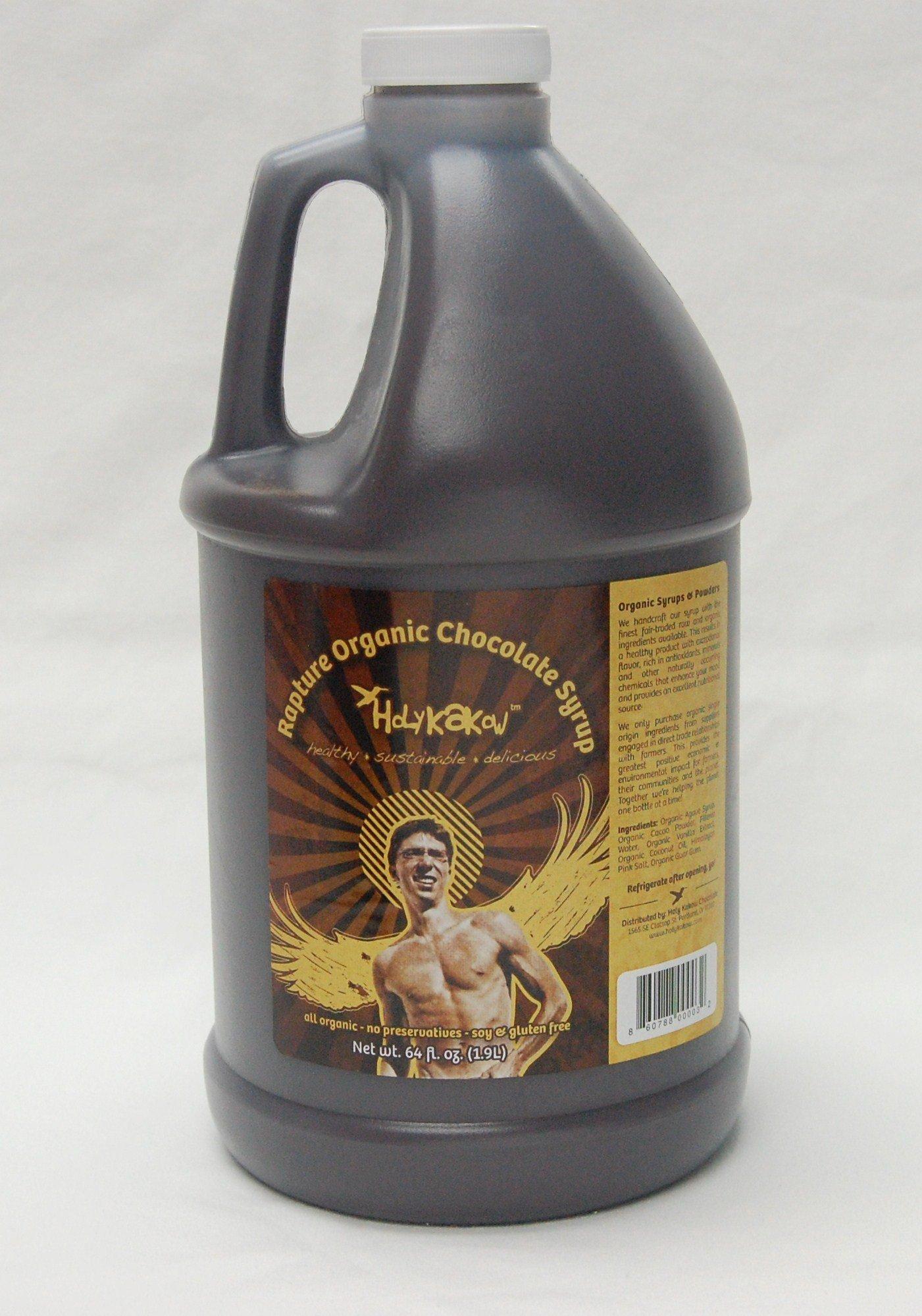 Holy Kakow Organic Agave Sweetened Chocolate Syrup - 2 Liter Bottle by Holy Kakow
