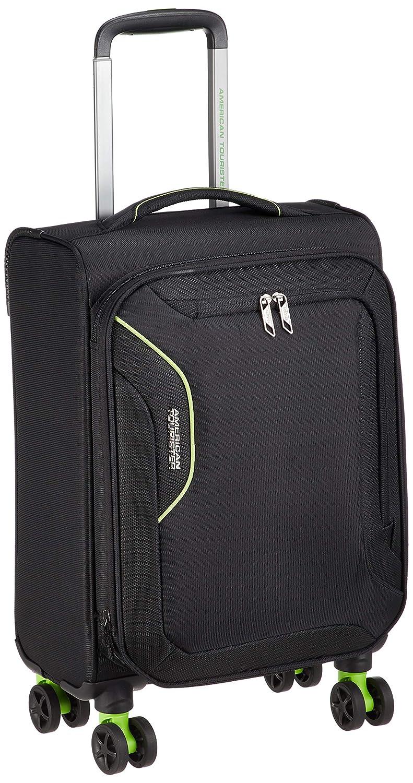 [アメリカンツーリスター] スーツケース APPLITE3.0S アップライト3.0S スピナー55 機内持込可 エキスパンダブル 機内持込可 38L 55cm 2.0kg DB7*002  ブラック/グリーン B077DKR5VG