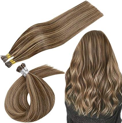 RUNATURE Fusion Hair, Highlights Color Marrón oscuro mezclado ...