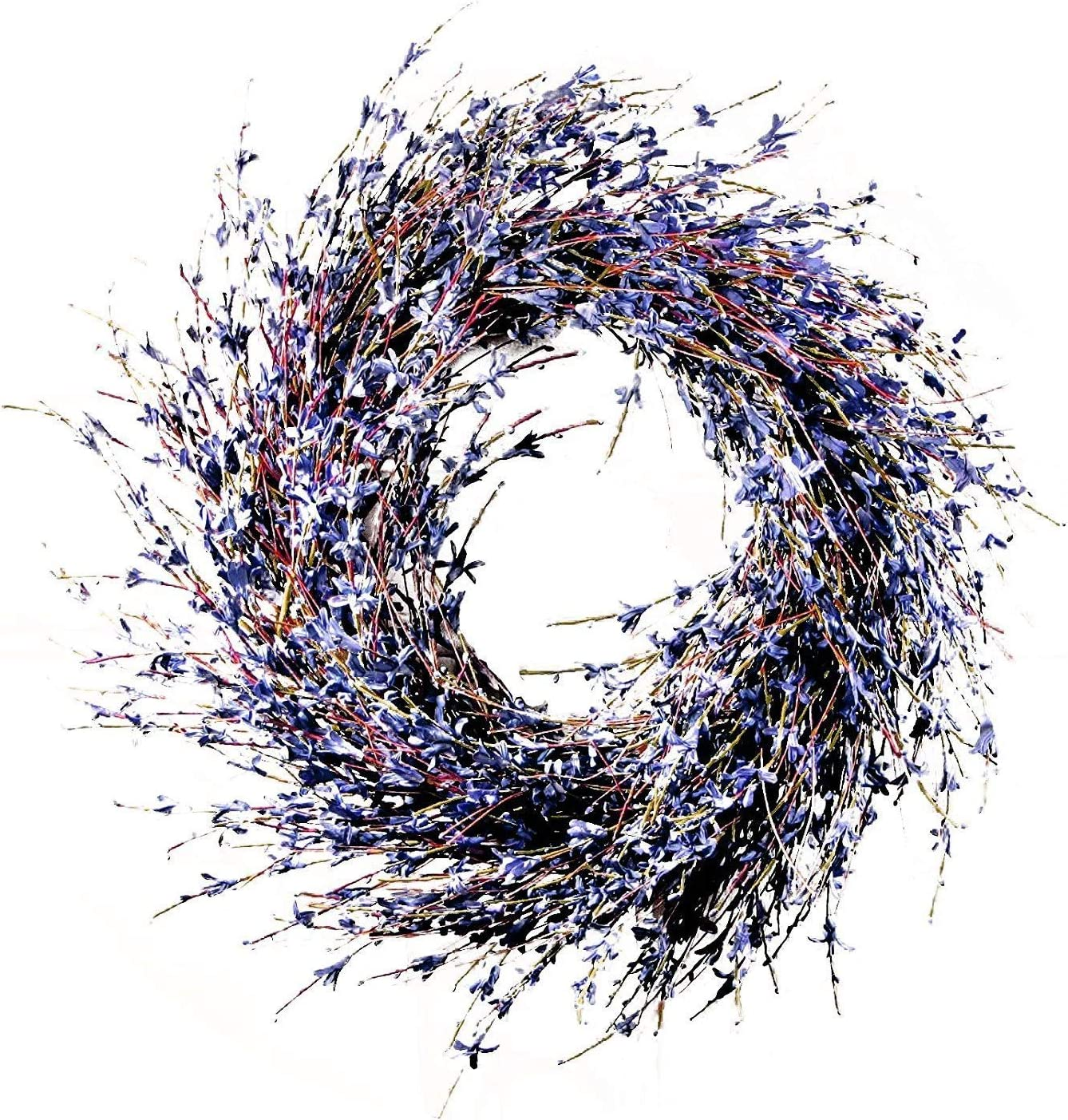 Charm & Chic 10047 Faux Dried Lavender Floral Door Wreath Natural for Fall Front Door or Indoor Home Decor