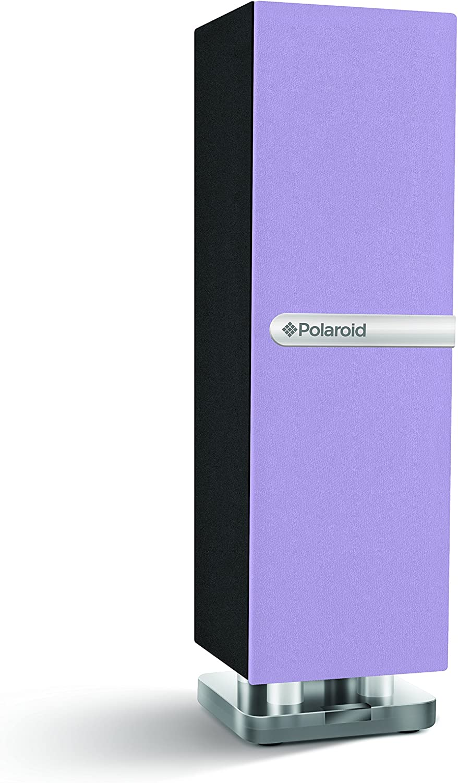 Polaroid PBT3001PU Mini Bluetooth Speaker, Slim, Single-Tower Design (Purple)