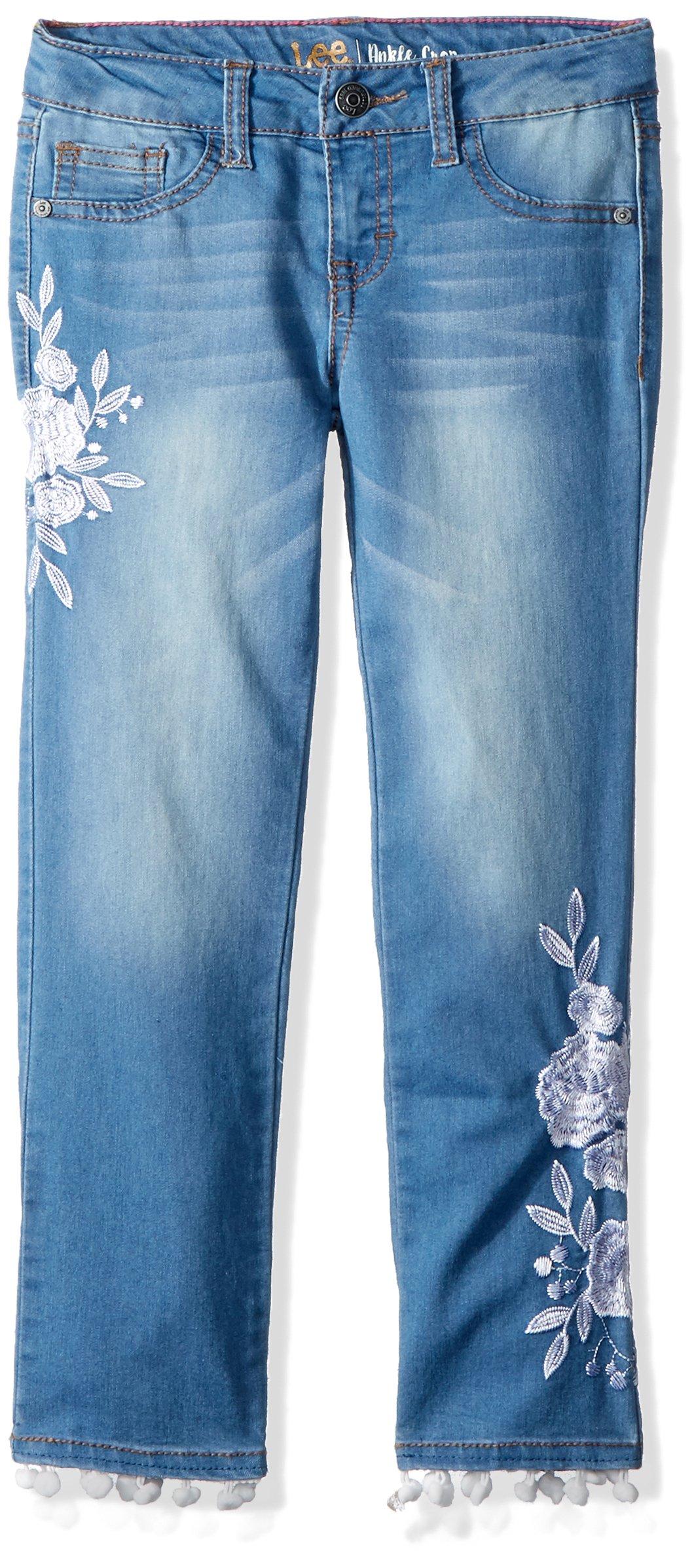 LEE Girls' Big Fashion Skinny Crop Jean, Flower