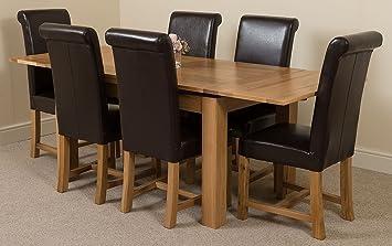 Modern Furniture Direct Richmond Medium Extending Solid Oak Dining