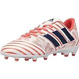 adidas Women's Nemeziz 17.4 FG W Soccer Shoe, Trace Blue/Red Zest/Core Black, 7 M US