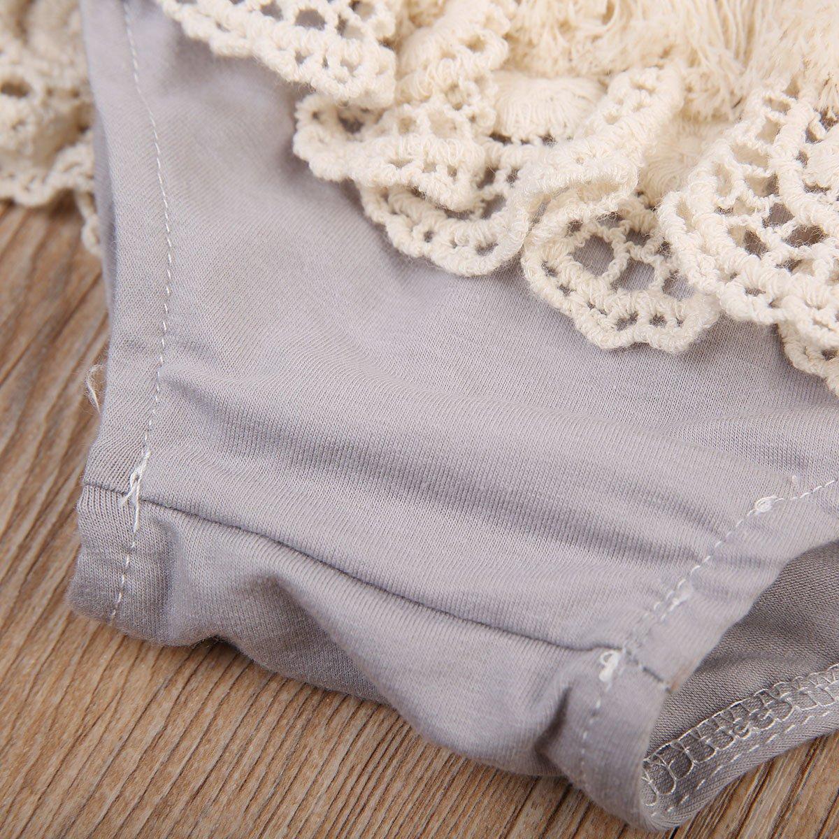 Newborn Baby Girls Tassel Lace-up Diaper Covers Bloomers Panties