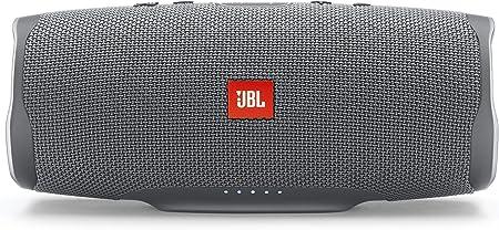 Jbl Charge 4 Bluetooth Lautsprecher In Grau Wasserfeste Portable Boombox Mit Integrierter Powerbank Mit Nur Einer Akku Ladung Bis Zu 20 Stunden Kabellos Musik Streamen Audio Hifi
