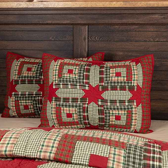 Amazon.com: VHC Brands Forreston Cabin Standard 21x27 Sham ...