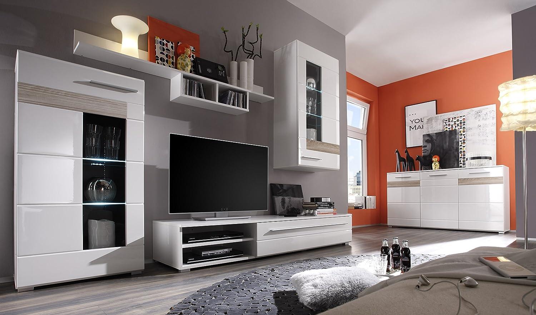 Composizione soggiorno moderno End, mobile porta tv, parete di ...