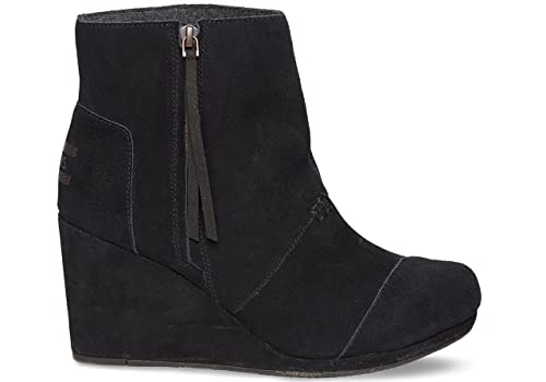 ba07812f696 Toms Desert Wedge Highs Black Suede Boot 10002815 Womens 7  Amazon.ca  Shoes    Handbags