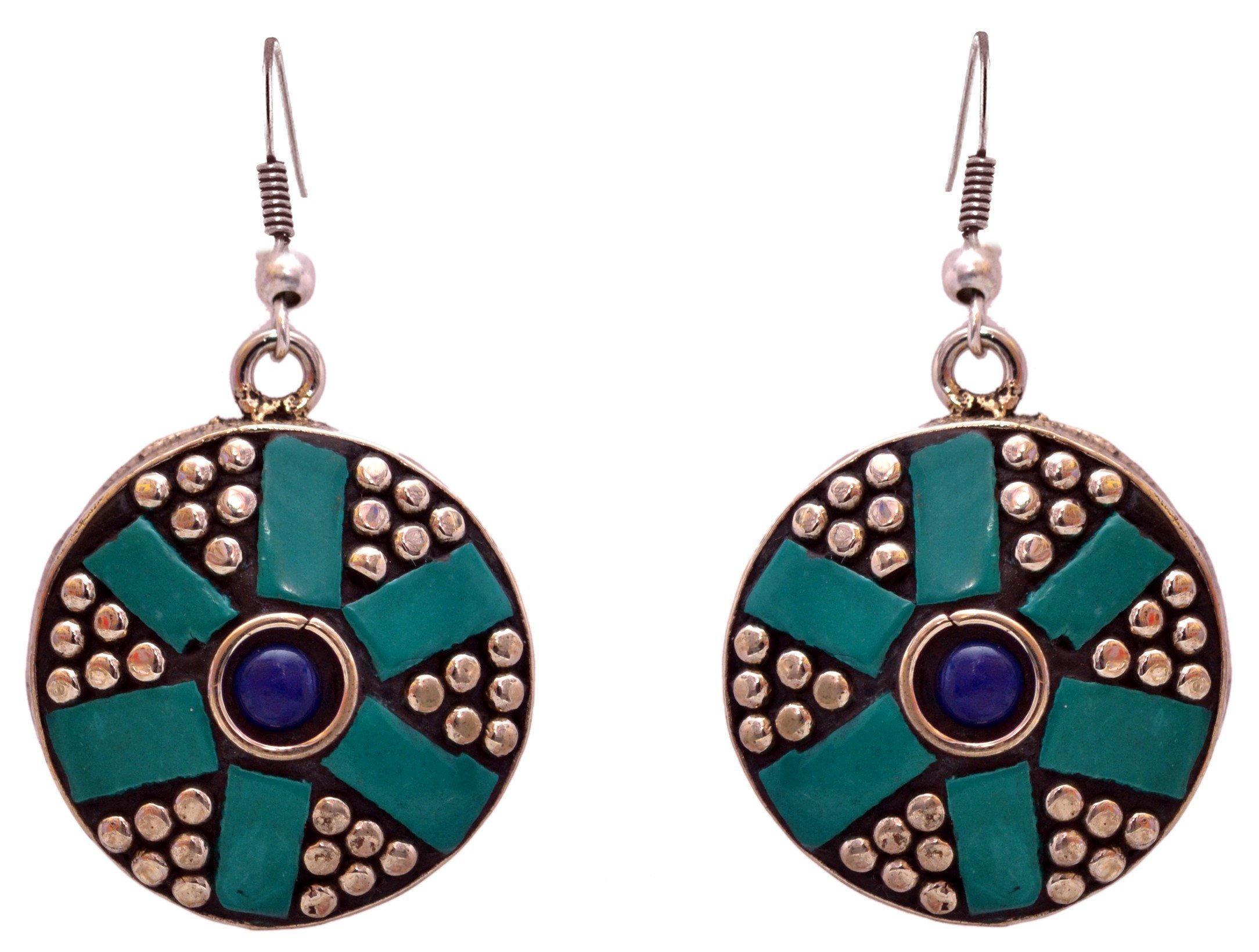 Sansar India Tibetan Nepali Drop Indian Earrings Jewelry for Girls and Women 1399