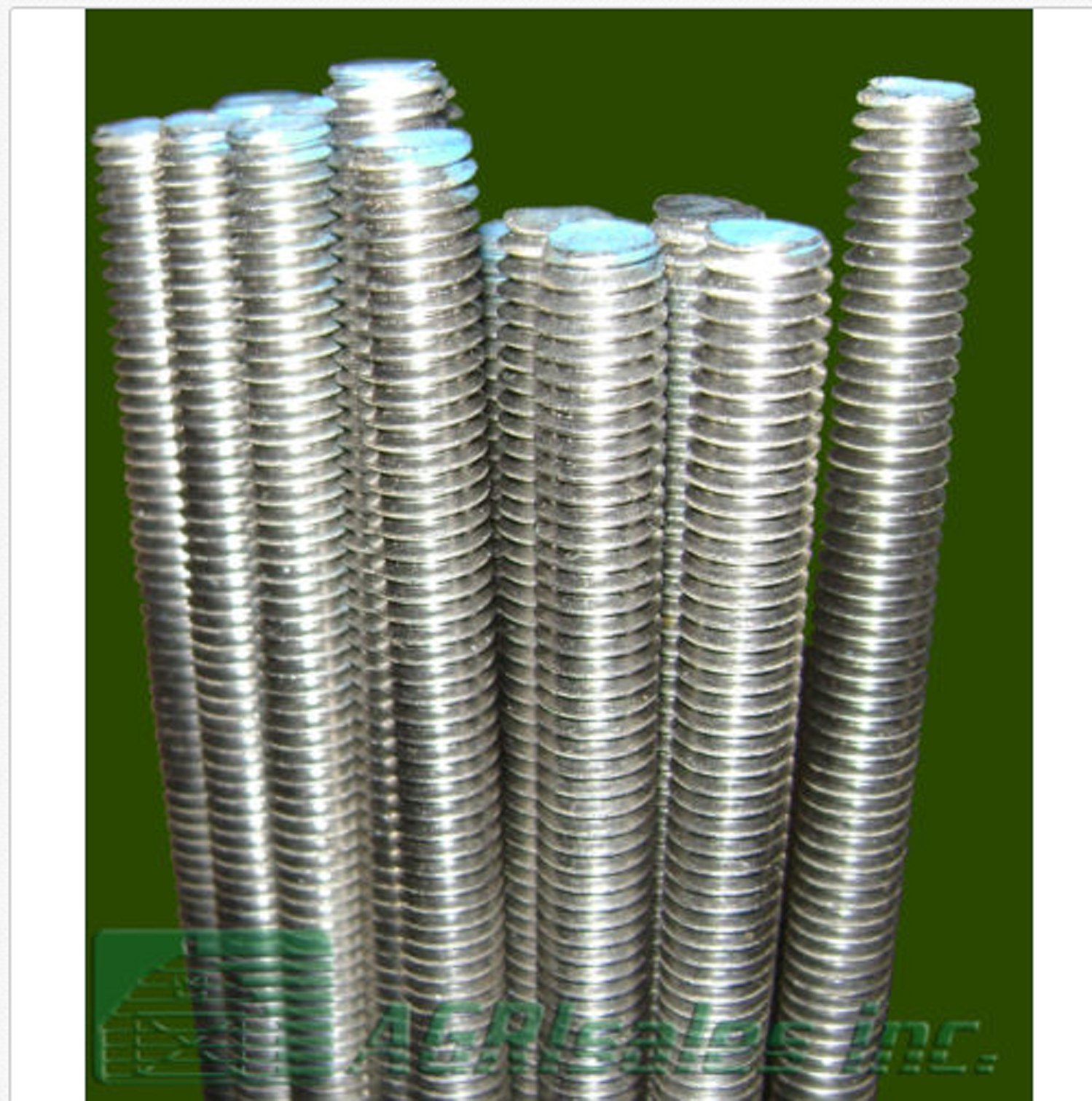 USA Premium Store 3/8''-16 x 3' Stainless Steel (SS) Threaded Rod - 5 Pcs