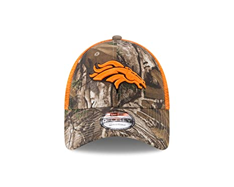 4acf3f2617e01 New Era NFL Denver Broncos Adult Men Realtree Trucker 9FORTY Adjustable  Cap