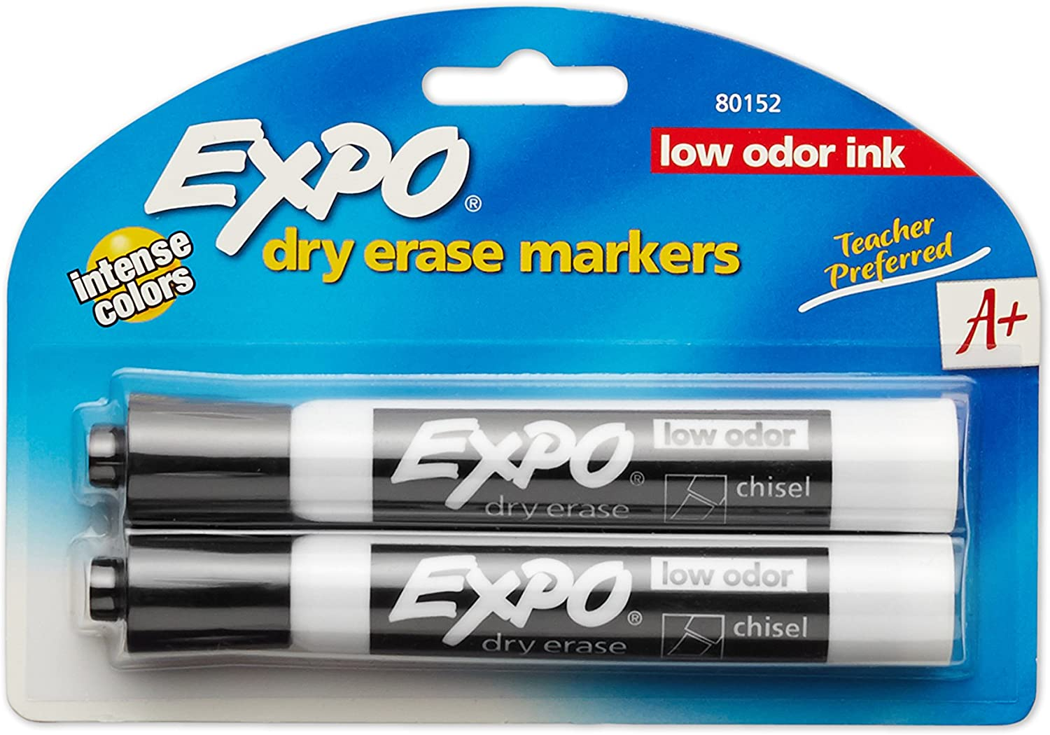 Details about  /EXPO 81503 Magnetic Low Odor Markers Chisel Tip Assorted Colors 3-Count with