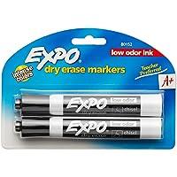Expo Dry Erase Marker - Chisel Black 2-pack