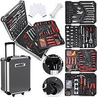 Masko® 949 Werkzeugkoffer Werkzeugkasten Werkzeugkiste Werkzeug Trolley ✔ Profi ✔ 949 Teile ✔ Qualitätswerkzeug (Black/Anthrazit)