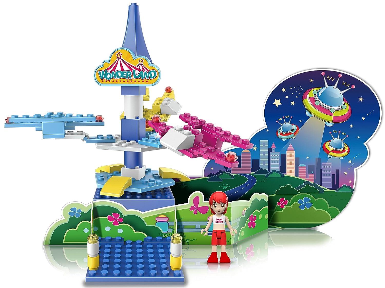 Ztrend WL504D Wonderland Deco Astro Plane Geared Motion Building Block Toy Set