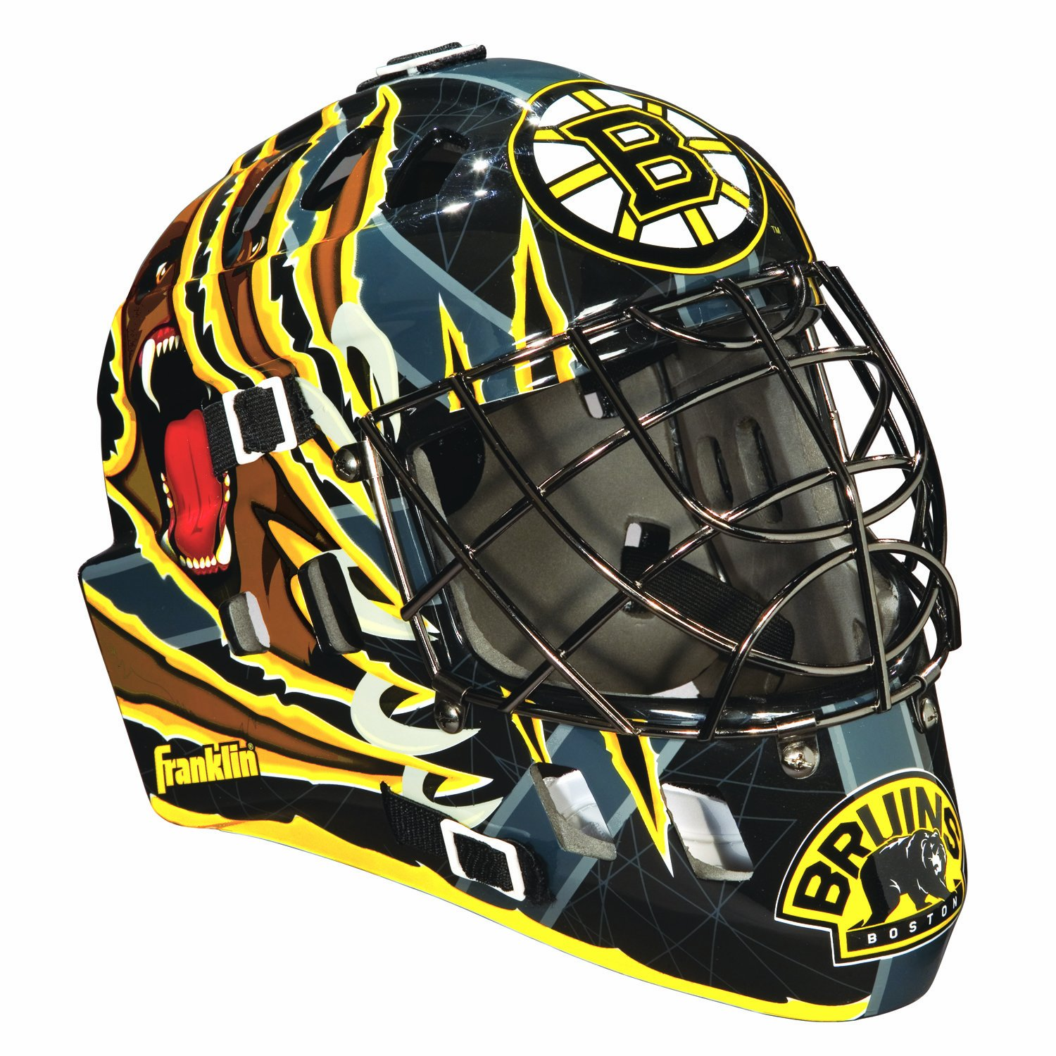 Franklin Sports NHL Boston Bruins SX Comp GFM 100 Goalie Face Mask by Franklin Sports (Image #1)