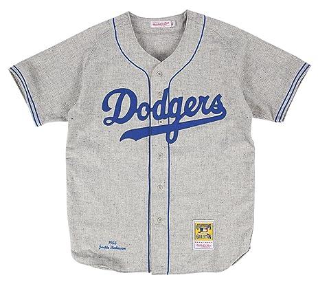 309e046e2 ... Mitchell Ness Brooklyn Dodgers 42 Jackie Robinson White 1955 Authentic  Baseball Jersey ...